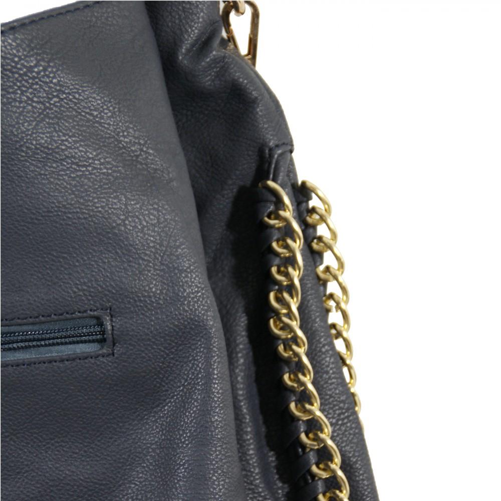 Sacs à main  Sac à main bleu foncé simili-cuir avec détails et ...