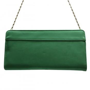 Organisateur de sac, compagnon, grand portefeuille vert en simili-cuir, utilisable en pochette de soirée