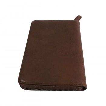 Compagnon tout en un portefeuille - porte-chéquier marron