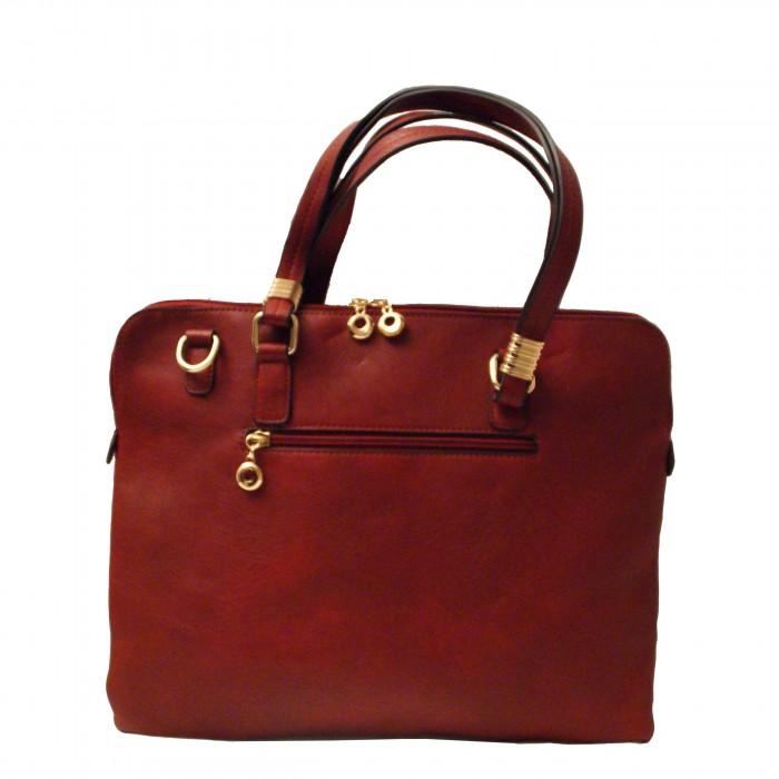Sac main pochette ordinateur rouge d tails or - Pochette rangement pour sac a main ...