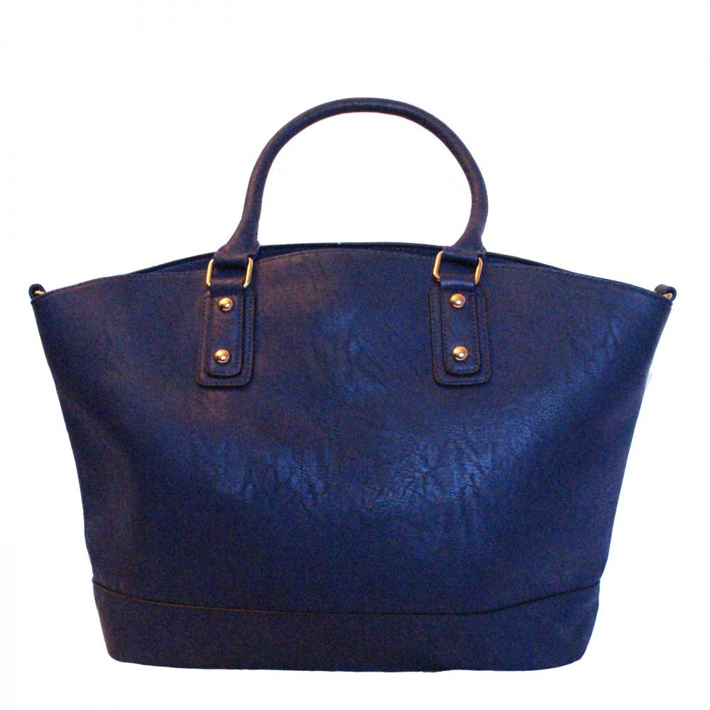Accueil  Sacs à main  Sac à main bleu style cabas en simili-cuir ...