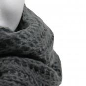 Echarpe en maille, très épaisse et très douce, grise