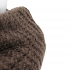 Echarpe en maille, très épaisse et très douce, marron