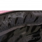Sac à main rose Rica Lewis style cabas shopping en tissu à signatures