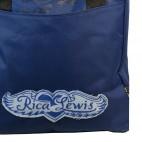 Sac à main bleu Rica Lewis style cabas shopping en tissu à signatures