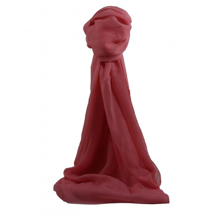 Etole couleur rose unie en coton