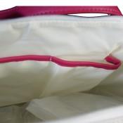Sac à main style cabas en simili-cuir bicolore blanc et rose