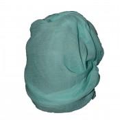 Etole couleur turquoise unie en coton