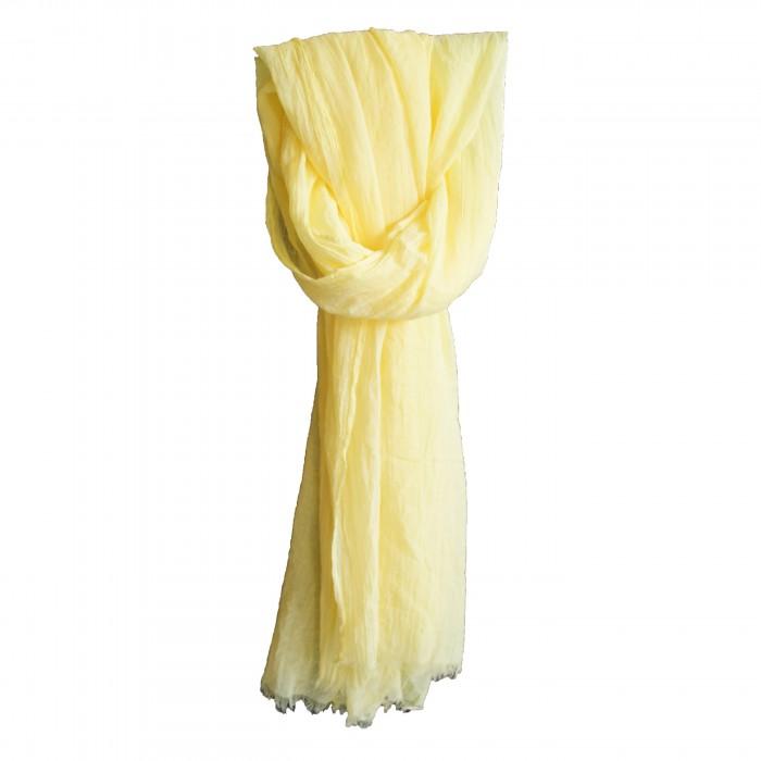 Etole couleur jaune unie en coton