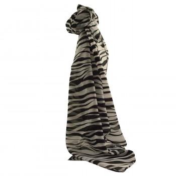 Foulard noir et blanc avec imprimé style animal zèbre