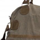 Sac à main de voyage en tissu kaki et marron, très pratique et original