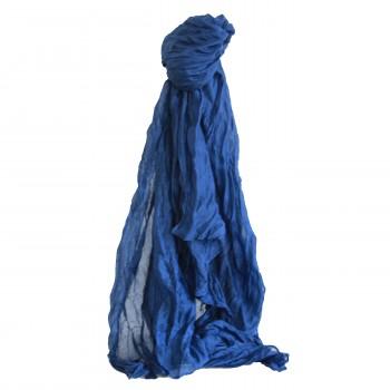 Etole bleue unie, façon jean, en viscose