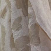 Etole beige clair à coeurs beige foncé - marrons dessinés en mélange de viscose et coton