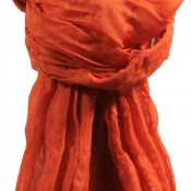 Etole orange rouille unie en viscose