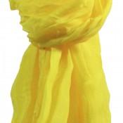 Etole jaune unie en viscose