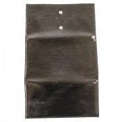 Portefeuille - porte-cartes noir vernis classique avec nombreuses poches de rangement