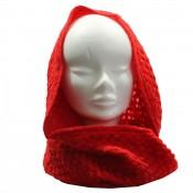 Echarpe tour de cou en maille, épaisse et douce, rouge
