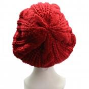 Bonnet style béret en laine, chaud et doux, rouge
