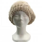 Bonnet style béret en laine, chaud et doux, beige