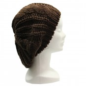 Bonnet style béret en laine, chaud et doux, marron