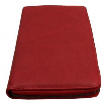 Compagnon tout en un portefeuille - porte-chéquier rouge