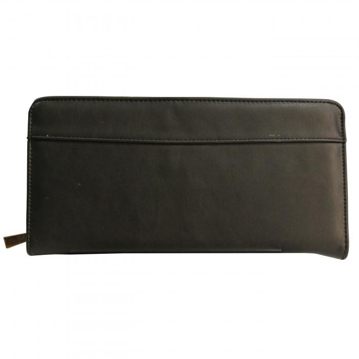 Organisateur de sac, compagnon, grand portefeuille noir en simili-cuir, utilisable en pochette de soirée