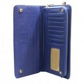 Organisateur de sac, compagnon, grand portefeuille bleu en simili-cuir, utilisable en pochette de soirée