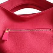 Sac à main rose en cuir véritable, de grande qualité