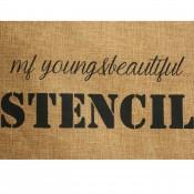 Grande pochette de soirée en toile de jute Stencil