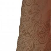 Foulard rose avec imprimés ton sur ton, très originaux, fleurs et ornements, baroques