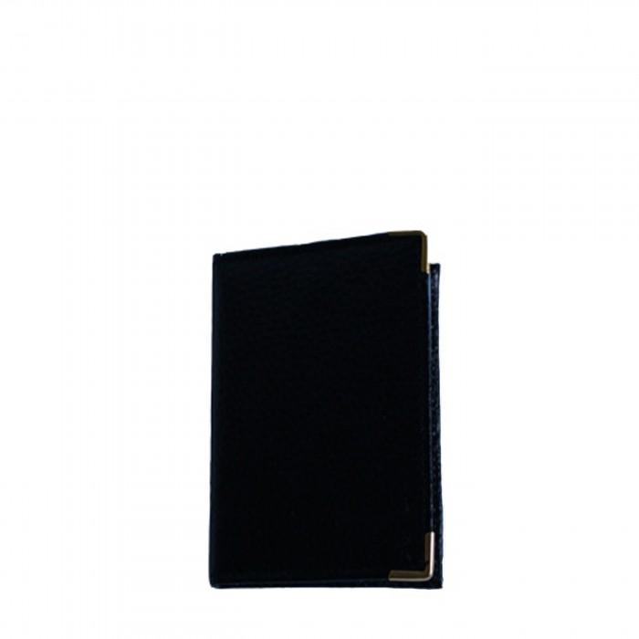 Portefeuille - porte-cartes noir classique avec nombreux rangements