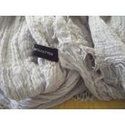 Etole couleur gris unie mélange viscose et coton