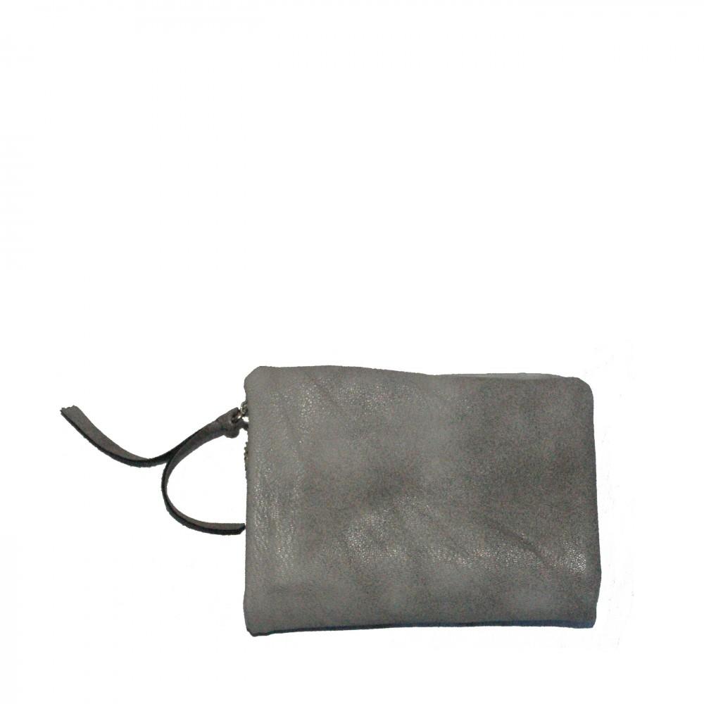 Petit portefeuille porte cartes gris original avec for Porte petite largeur
