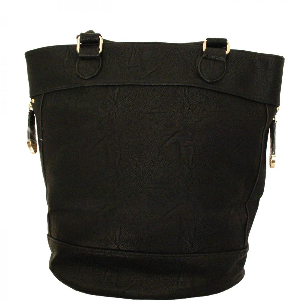 sac main noir avec d tails dor s et belle doublure. Black Bedroom Furniture Sets. Home Design Ideas