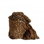 Foulard imprimé animal marron et noir