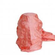 Foulard nuances corail/rose ton sur ton, imprimé style animal/girafe