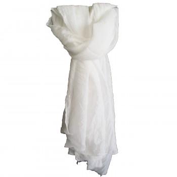 Etole blanche unie très douce en coton
