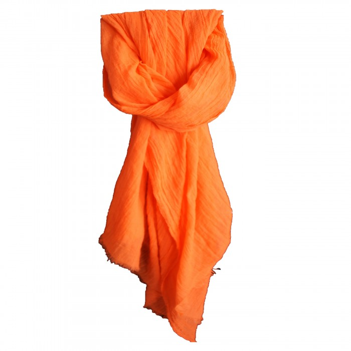 Etole couleur orange unie en coton